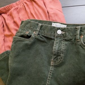 Old Navy Green Corduroy Skirts-Size 6 Fall'05